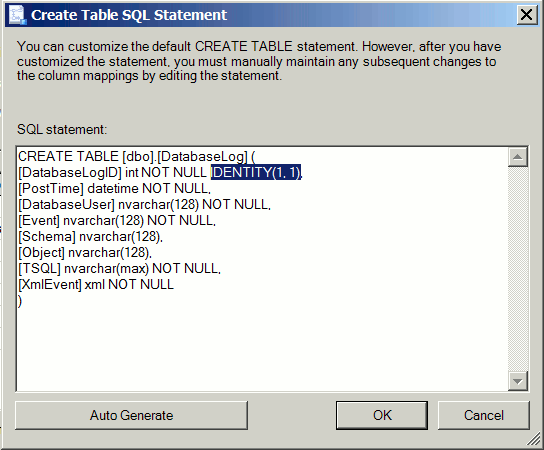 Export SQL Server table data with identity